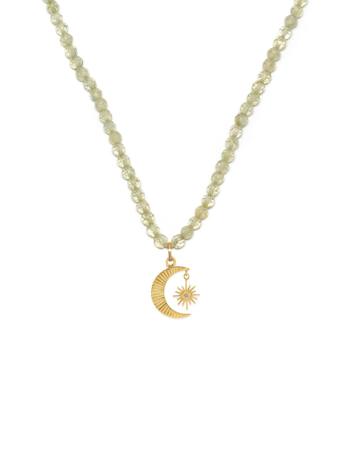 Celestial Star and Moon Beaded Necklace