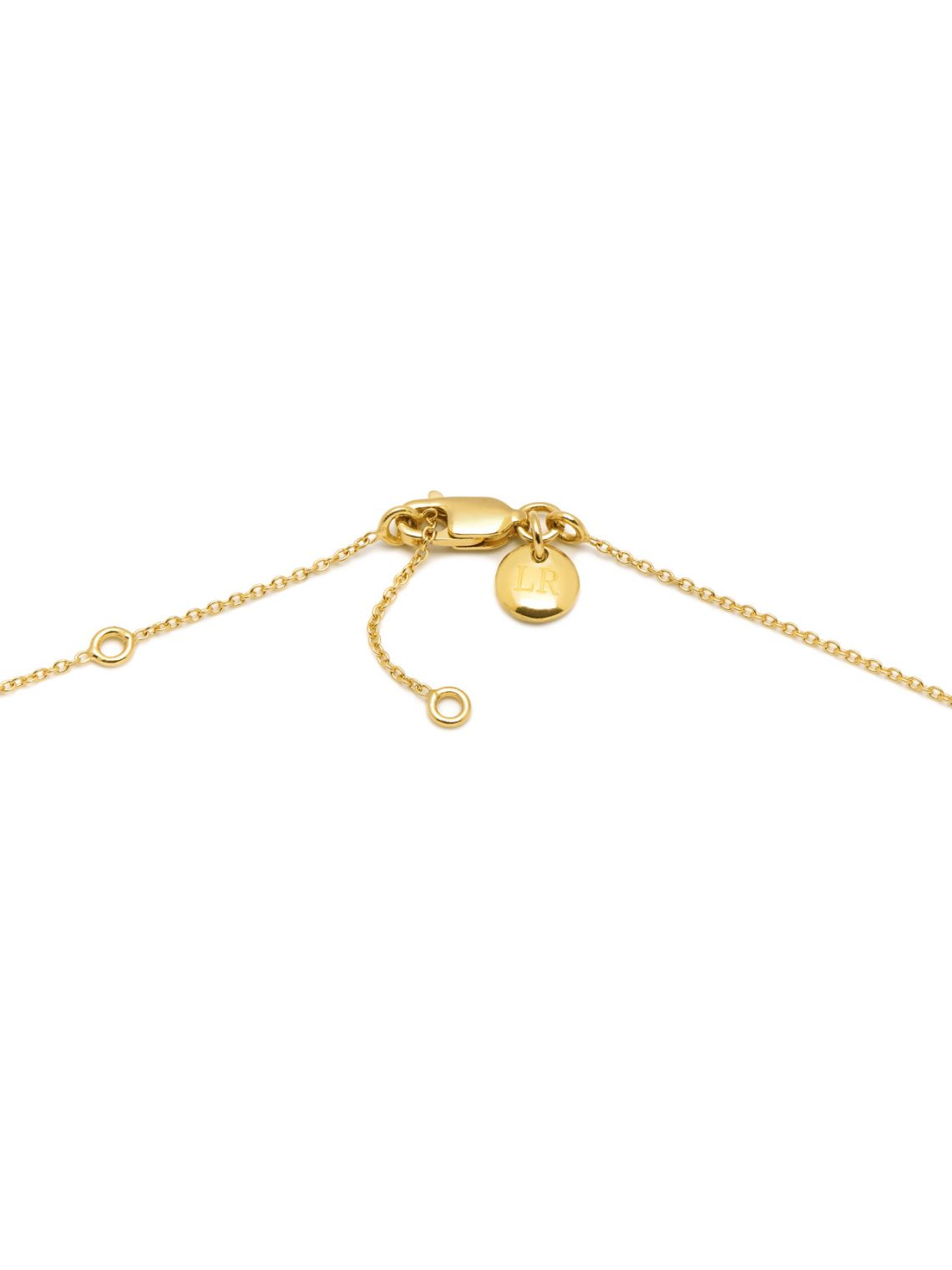 Sunray small disc charm necklace